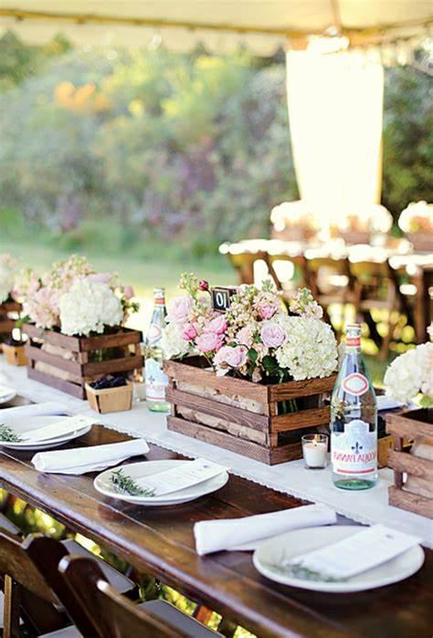 Hochzeitsdekoration Ideen mit weißem Hochzeitsdeko