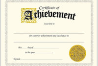 004 Certificate Of Achievement Template Ideas Phenomenal intended for Quality 9 Math Achievement Certificate Template Ideas