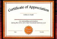 028 Certificate Of Appreciation Template Free Download Ppt regarding Anniversary Certificate Template Free