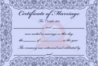 10 Best Marriage Certificate Templates Images On Pinterest in Commemorative Certificate Template