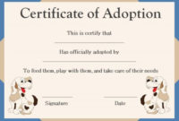 10 Best Pet Adoption Certificate Images On Pinterest pertaining to Dog Training Certificate Template Free 10 Best