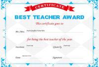 10 Best Teacher Certificate Templates  Free Printable inside Classroom Certificates Templates