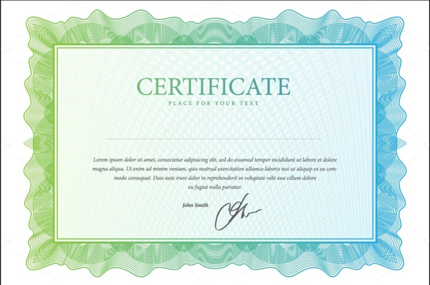 10 Blank Certificate Template Psd Word Eps And Indesign throughout Indesign Certificate Template