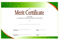 10 Certificate Of Merit Templates Editable Free Download in Amazing Certificate Of Honor Roll Free Templates