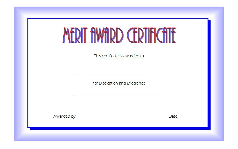 10 Certificate Of Merit Templates Editable Free Download in Amazing Honor Roll Certificate Template Free 7 Ideas