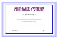10 Certificate Of Merit Templates Editable Free Download intended for Long Service Award Certificate Templates
