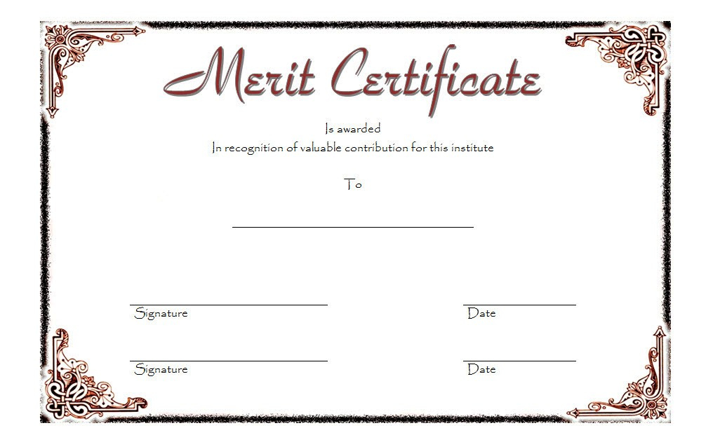 10 Certificate Of Merit Templates Editable Free Download throughout Amazing Certificate Of Honor Roll Free Templates