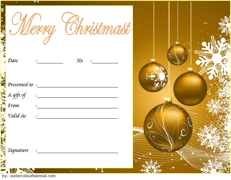 10 Christmas Gift Templates Free Typable intended for Amazing Christmas Gift Templates Free Typable