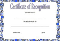 10 Downloadable Certificate Of Recognition Templates Free inside Formal Certificate Of Appreciation Template