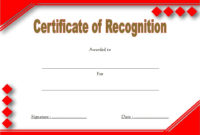 10 Downloadable Certificate Of Recognition Templates Free pertaining to Sales Certificate Template