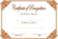 10 Downloadable Certificate Of Recognition Templates Free throughout Awesome Sales Certificate Template