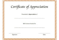 10 Editable Certificate Of Appreciation Templates Free in Amazing Certificate Of Appreciation Template Word