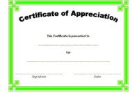 10 Editable Certificate Of Appreciation Templates Free pertaining to Amazing Certificate Of Appreciation Template Word