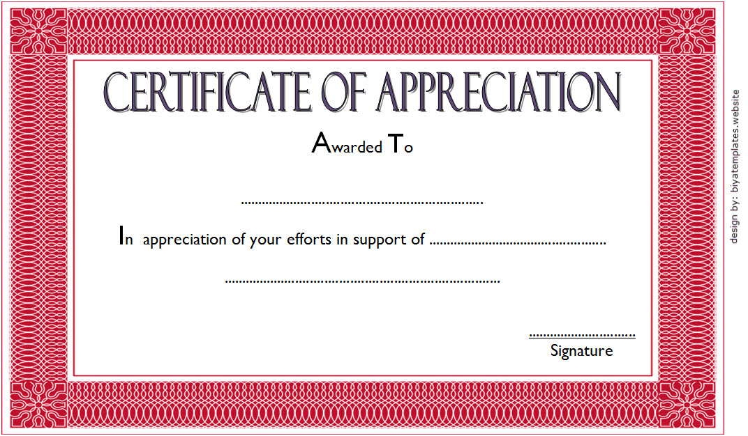 10 Editable Certificate Of Appreciation Templates Free with Formal Certificate Of Appreciation Template