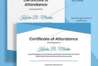 10 Free Attendance Certificate Templates  Microsoft Word intended for Free Conference Certificate Of Attendance Template