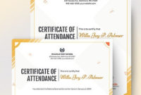 10 Free Attendance Certificate Templates  Microsoft Word within Awesome Attendance Certificate Template Word