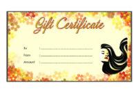 10 Free Printable Beauty Salon Gift Certificate Templates inside Nail Salon Gift Certificate Template