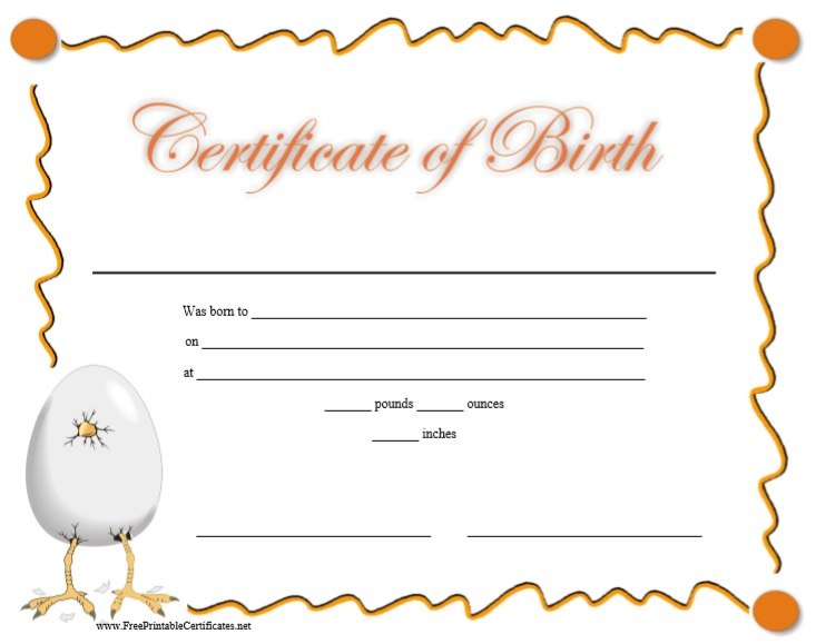 10 Free Printable Birth Certificate Templates Word  Pdf with regard to Birth Certificate Templates For Word