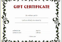 10 Gift Voucher Templates  Sampletemplatess for Generic Certificate Template