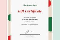 10 Holiday Gift Certificate Templateillustrator throughout Printable Gift Certificate Template In Word 10 Designs