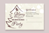 10 Holiday Gift Certificate Templateillustrator with Holiday Gift Certificate Template Free 10 Designs