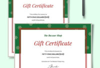 10 Holiday Gift Certificate Templateillustrator within Gift Certificate Template Publisher