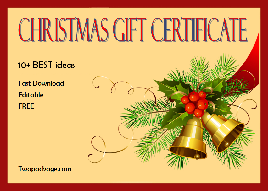 10 Merry Christmas Gift Certificate Template Free Ideas within Christmas Gift Certificate Template Free
