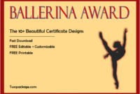10 Pretty Ballet Certificate Templates Free for Ballet Certificate Template