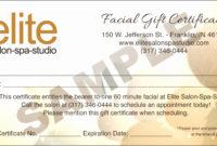 10 Salon Gift Certificate Template  Sampletemplatess for Best Salon Gift Certificate Template