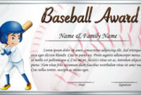 10 Simple Baseball Award Certificate Templates  Sample throughout Baseball Achievement Certificates