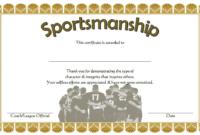 10 Sportsmanship Certificate Templates Free throughout Soccer Certificate Template Free 21 Ideas