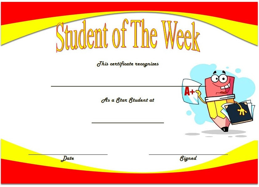 10 Student Of The Week Certificate Templates Best Ideas throughout Amazing Student Of The Year Award Certificate Templates