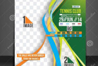 10 Tennis Flyers  Printable Psd Ai Vector Eps Format for Table Tennis Certificate Templates Free 10 Designs