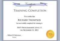10 Training Certificate Templates  Free Printable Word within Free 10 Certificate Of Championship Template Designs Free