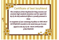 100 Epic Best Certificate Of Appreciation For Boyfriend within Best Boyfriend Certificate Template