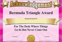 101 Funny Office Awards From Comedian Larry Weaver Www in Printable Free Most Likely To Certificate Templates