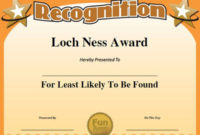 11 Best Funny Office Awards Images On Pinterest  Employee intended for Superlative Certificate Templates