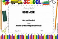11 Best School Certificates Images On Pinterest in Quality Well Done Certificate Template