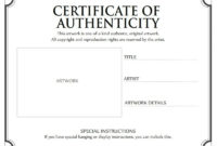 11 Certificate Of Authenticity Templates  Free Printable throughout Certificate Of Authenticity Templates