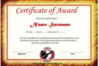 11 Free Martial Art Certificate Templates  Microsoft Word throughout Art Certificate Template Free