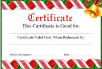 11 Free Sample Christmas Gift Certificate Templates in Amazing Christmas Gift Certificate Template Free
