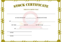 11 Stock Certificate Templates  Free Word Excel  Pdf for Stock Certificate Template Word