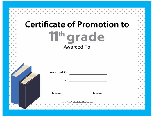 11Th Grade Certificate Of Promotion Template Download intended for Grade Promotion Certificate Template Printable