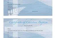 12 Baptism Certificate Templates  Free Printable Word for Best Baptism Certificate Template Word