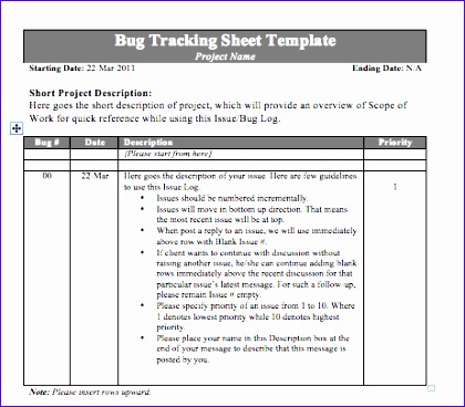 12 Bug Report Template Excel  Excel Templates  Excel intended for Quality Project Management Issues Log Template