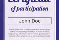 12 Certificate Of Participation Templates  Word Psd Ai for Free Certificate Of Participation Template Doc