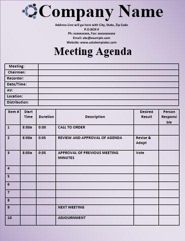 12 Free Meeting Agenda Templates  Ms Office Guru for Amazing Free Meeting Agenda Template Microsoft Word