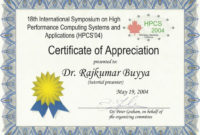 12 Newer Appreciation Certificates In 2020  Certificate intended for Awesome Free Employee Appreciation Certificate Template