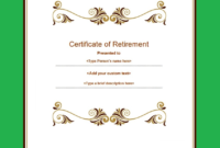 12 Retirement Certificate Templates  Free Printable Word throughout Printable Retirement Certificate Template