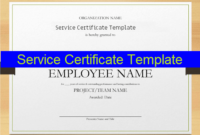 12 Service Certificate Templates  Free Printable Word regarding Certificate Of Service Template Free